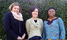 New Zealand Tertiary College Health and Wellbeing Lecturer Helen Hegley, Manager Mandi Smith and Lecturer Joy Radford